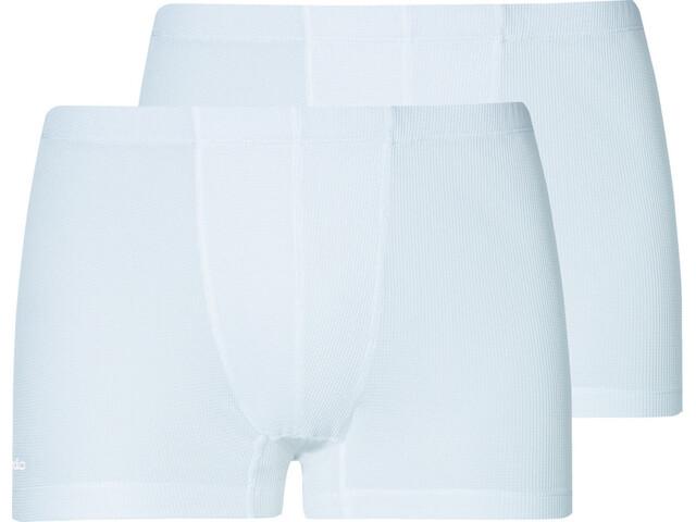 Odlo Active Cubic Light Boxer Men 2 Pack white-snow white